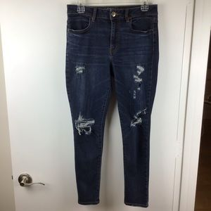 American Eagle | Distressed Hi-Rise Jegging Jeans